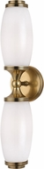 Hudson Valley 1682-AGB Brooke Contemporary Aged Brass Bath Lighting Sconce
