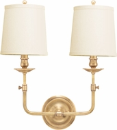 Hudson Valley 172-AGB Logan Aged Brass Lamp Sconce