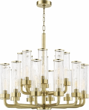 Hudson Valley 1732-AGB Soriano Contemporary Aged Brass Chandelier Lamp