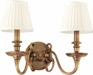 Hudson Valley 1742-AGB Charleston Aged Brass Wall Mounted Lamp