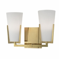 Hudson Valley 1802-AGB Upton Aged Brass Xenon 2-Light Bath Wall Sconce