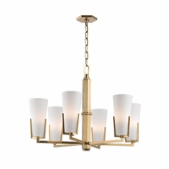 Hudson Valley 1806-AGB Upton Aged Brass Xenon Hanging Chandelier
