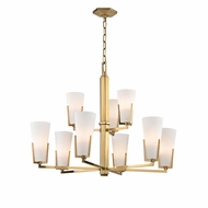 Hudson Valley 1809-AGB Upton Aged Brass Xenon Chandelier Lighting