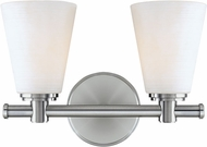 Hudson Valley 1842-PN Garland Modern Polished Nickel 2-Light Vanity Lighting