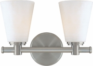 Hudson Valley 1842-SN Garland Contemporary Satin Nickel 2-Light Vanity Light