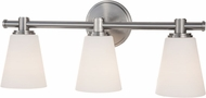 Hudson Valley 1843-SN Garland Contemporary Satin Nickel 3-Light Bath Lighting Fixture
