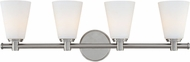 Hudson Valley 1844-PN Garland Contemporary Polished Nickel 4-Light Bathroom Light Fixture