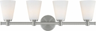 Hudson Valley 1844-SN Garland Modern Satin Nickel 4-Light Bathroom Vanity Lighting