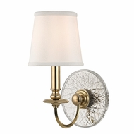 Hudson Valley 1881-AGB Yates Aged Brass Finish 6.5  Wide Wall Sconce