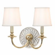 Hudson Valley 1882-AGB Yates Aged Brass Finish 16  Wide Wall Lighting