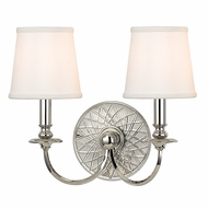 Hudson Valley 1882-PN Yates Polished Nickel Finish 14  Tall Sconce Lighting
