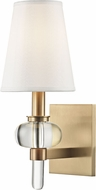 Hudson Valley 1900-AGB Luna Aged Brass Wall Sconce Lighting