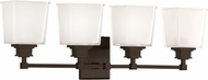 Hudson Valley 1954-OB Berwick Old Bronze 4-Light Bathroom Light Sconce