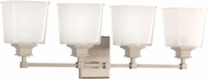 Hudson Valley 1954-SN Berwick Satin Nickel 4-Light Bathroom Sconce Lighting