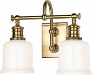 Hudson Valley 1972-AGB Keswick Aged Brass 2-Light Bath Lighting Sconce