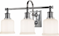 Hudson Valley 1973-PC Keswick Polished Chrome 3-Light Bathroom Lighting Fixture