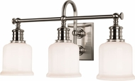 Hudson Valley 1973-SN Keswick Satin Nickel 3-Light Vanity Lighting