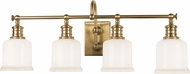 Hudson Valley 1974-AGB Keswick Aged Brass 4-Light Vanity Light