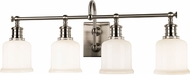 Hudson Valley 1974-SN Keswick Satin Nickel 4-Light Bathroom Light Fixture