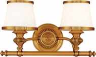 Hudson Valley 2002-FB Milton Flemish Brass 2-Light Bathroom Vanity Lighting