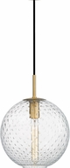 Hudson Valley 2010-AGB-CL Rousseau Modern Aged Brass 11.25  Pendant Lighting