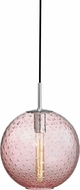 Hudson Valley 2010-PC-PK Rousseau Contemporary Polished Chrome 11.25  Pendant Lighting Fixture