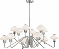 Hudson Valley 2012-PN Knowles Polished Nickel LED Ceiling Chandelier