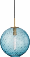Hudson Valley 2015-AGB-BL Rousseau Modern Aged Brass 16  Hanging Pendant Lighting