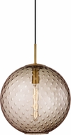 Hudson Valley 2015-AGB-BZ Rousseau Contemporary Aged Brass 16  Hanging Pendant Light