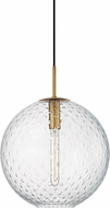 Hudson Valley 2015-AGB-CL Rousseau Modern Aged Brass 16  Pendant Hanging Light
