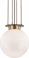 Hudson Valley 2017-AOB Gunther Modern Aged Old Bronze 17  Hanging Lamp