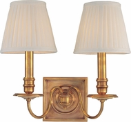 Hudson Valley 202-AGB Sheldrake Aged Brass Wall Sconce Lighting