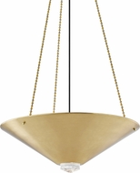 Hudson Valley 2026-AGB Heron Contemporary Aged Brass Pendant Lighting Fixture