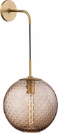 Hudson Valley 2030-AGB-BZ Rousseau Contemporary Aged Brass 20 Wall Lighting Fixture