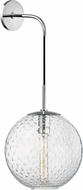 Hudson Valley 2030-PC-CL Rousseau Contemporary Polished Chrome 20 Sconce Lighting