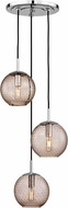 Hudson Valley 2033-PC-BZ Rousseau Modern Polished Chrome Multi Pendant Light Fixture