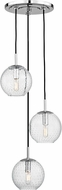 Hudson Valley 2033-PC-CL Rousseau Contemporary Polished Chrome Multi Pendant Lighting Fixture
