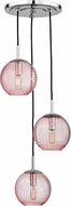 Hudson Valley 2033-PC-PK Rousseau Contemporary Polished Chrome Multi Hanging Pendant Light