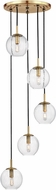 Hudson Valley 2035-AGB-CL Rousseau Modern Aged Brass Multi Drop Lighting