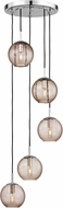 Hudson Valley 2035-PC-BZ Rousseau Modern Polished Chrome Multi Drop Ceiling Light Fixture