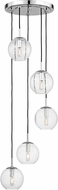 Hudson Valley 2035-PC-CL Rousseau Contemporary Polished Chrome Multi Drop Lighting Fixture