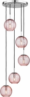 Hudson Valley 2035-PC-PK Rousseau Contemporary Polished Chrome Multi Pendant Light