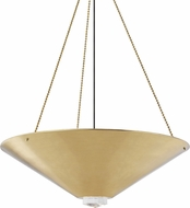 Hudson Valley 2038-AGB Heron Contemporary Aged Brass Hanging Pendant Light