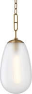 Hudson Valley 2109-AGB Bruckner Modern Aged Brass Mini Hanging Pendant Lighting