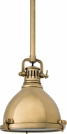 Hudson Valley 2210-AGB Pelham Vintage Aged Brass Mini Pendant Hanging Light