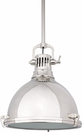 Hudson Valley 2212-PN Pelham Retro Polished Nickel Lighting Pendant