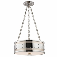 Hudson Valley 2216-PN Gaines Retro Polished Nickel Finish 43  Tall Drum Hanging Pendant Light