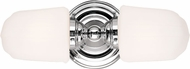 Hudson Valley 222-PC Edison Collection Vintage Polished Chrome Bathroom Wall Light Fixture