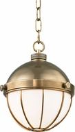 Hudson Valley 2309-AGB Sumner Modern Aged Brass Mini Lighting Pendant