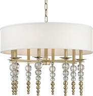 Hudson Valley 2330-AGB Persis Modern Aged Brass 30  Drum Hanging Light Fixture